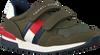 Grüne TOMMY HILFIGER Sneaker low LOW CUT VELCRO SNEAKER  - small