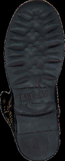 Schwarze REPLAY Biker Boots RL260052L STAKE - large