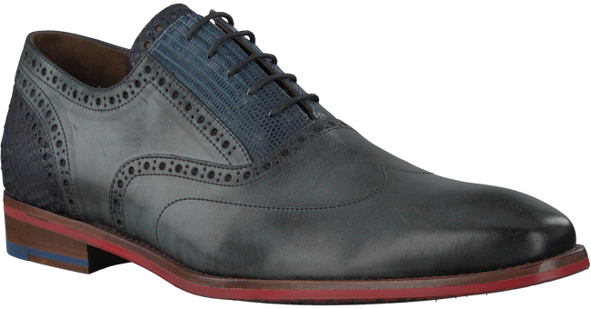 Graue FLORIS VAN BOMMEL Business Schuhe 19062 - large