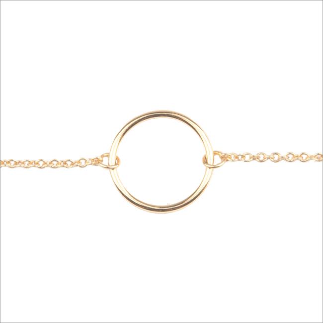 Goldfarbene ALLTHELUCKINTHEWORLD Armband SOUVENIR BRACELET CIRCLE - large