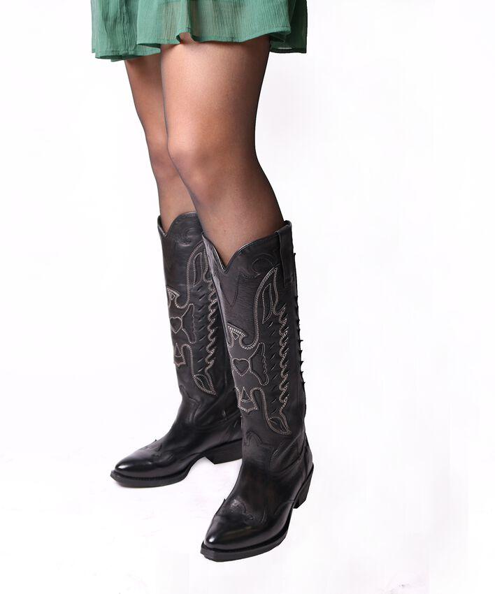 Schwarze OMODA Cowboystiefel TEX813 - larger