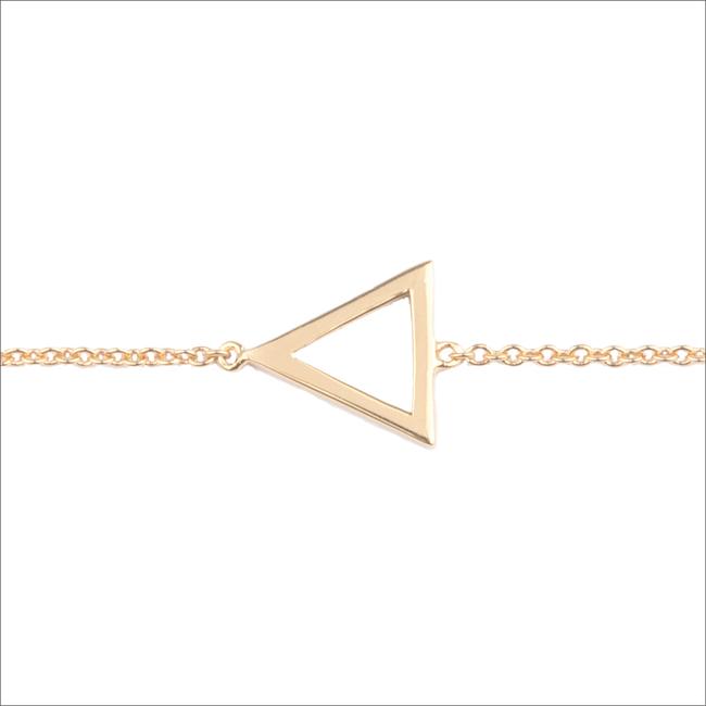Goldfarbene ALLTHELUCKINTHEWORLD Armband SOUVENIR BRACELET OPEN TRIANGL - large