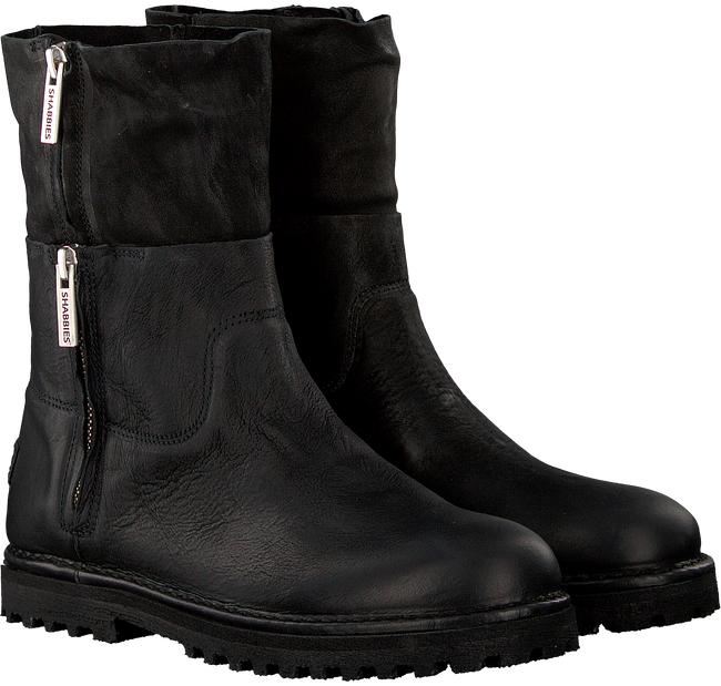 Schwarze SHABBIES Ankle Boots 191020017 - large