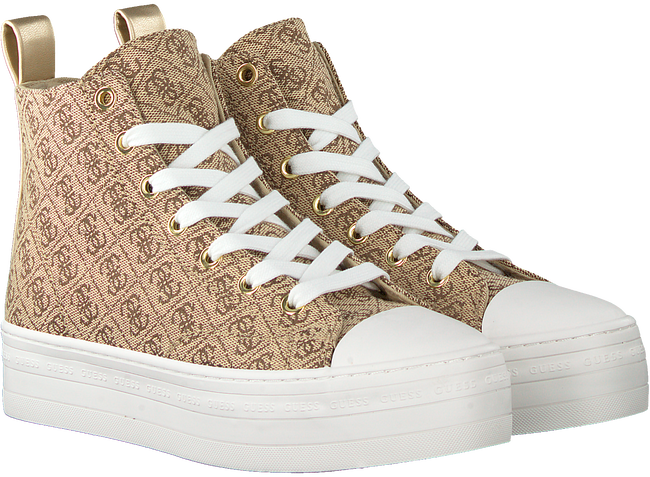 Beige GUESS Sneaker high BOKAN  - large
