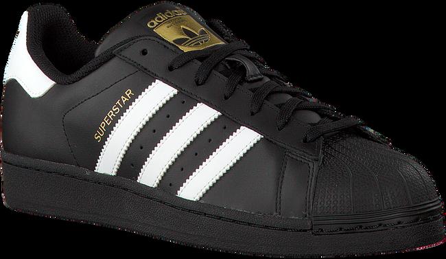Schwarze ADIDAS Sneaker SUPERSTAR HEREN - large