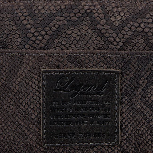 Graue LEGEND Portemonnaie JERSEY SMALL PYTHON - large