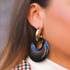 Schwarze MY JEWELLERY Ohrringe HOOP EARRING DOTS  - small
