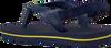Blaue HAVAIANAS Pantolette BABY BRASIL LOGO II  - small
