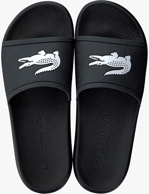 Schwarze LACOSTE Pantolette CROCO SLIDE  - large