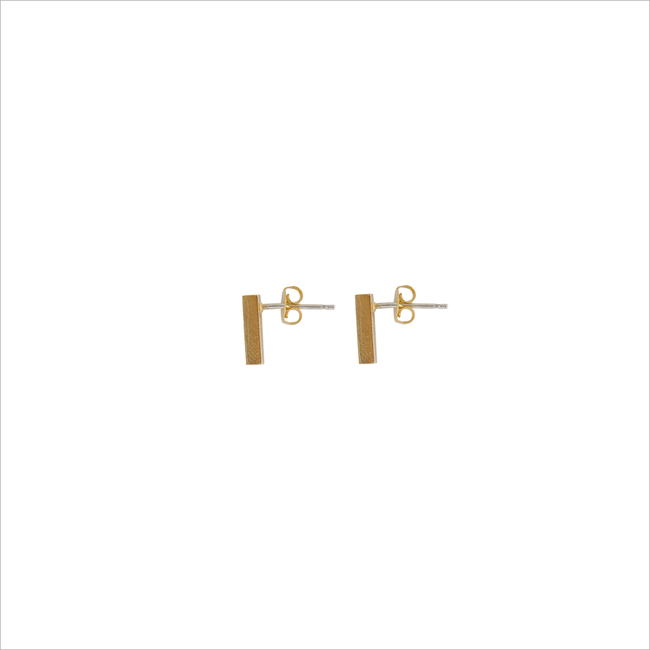 Goldfarbene ALLTHELUCKINTHEWORLD Ohrringe ELEMENTS EARRINGS BAR - large