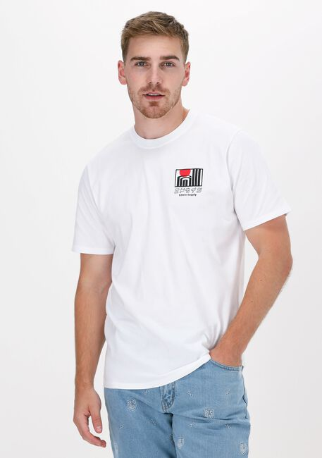 Weiße EDWIN T-shirt SUN BUILDINGS TS  - large