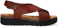 Cognacfarbene RED RAG Sandalen 78068  - medium