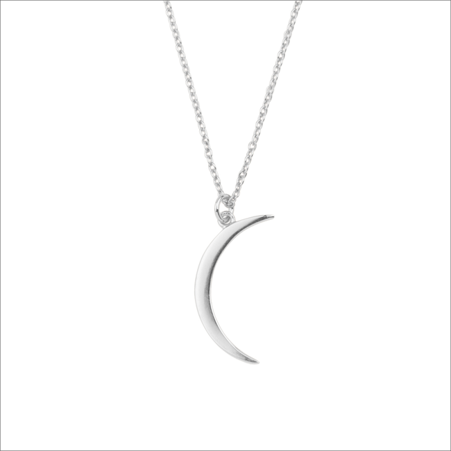 Silberne ALLTHELUCKINTHEWORLD Kette SOUVENIR NECHLACE LONG MOON - large