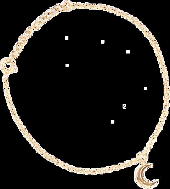 Goldfarbene ALLTHELUCKINTHEWORLD Armband FORTUNE BRACELET MOON - large