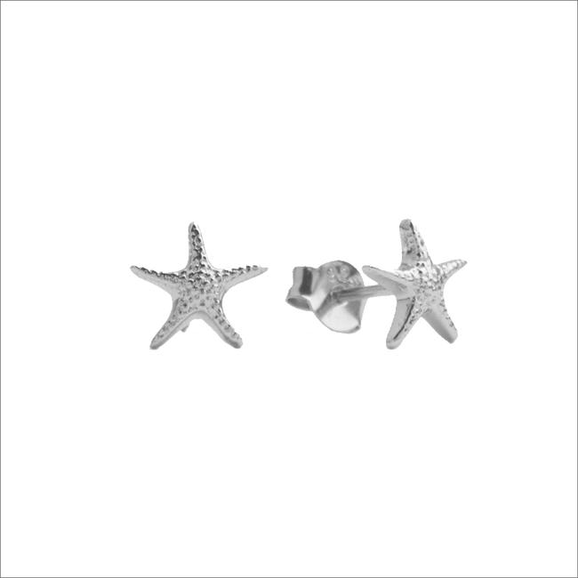 Silberne ALLTHELUCKINTHEWORLD Ohrringe PARADE EARRING STARFISH - large