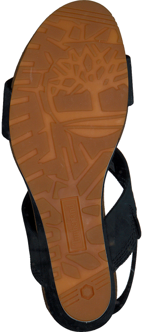 Schwarze TIMBERLAND Sandalen CAPRI SUNSET WEDGE - large