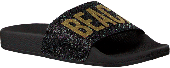 Schwarze THE WHITE BRAND Pantolette GLITTER BEACH KIDS - large