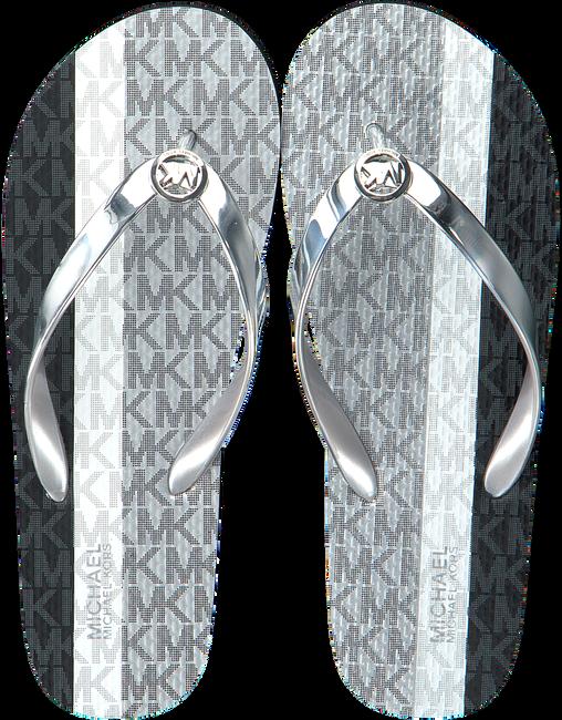 Silberne MICHAEL KORS Pantolette MK FLIP FLOP  - large