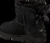 Schwarze UGG Ankle Boots MINI BAILEY BOW II KIDS - small