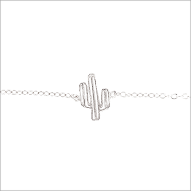 Silberne ALLTHELUCKINTHEWORLD Armband ELEMENTS BRACELET CACTUS - large
