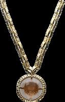Goldfarbene NOTRE-V Kette KETTING GLAS STEEN  - medium