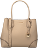 Beige MICHAEL KORS Handtasche MD CENTER ZIP TOTE - small