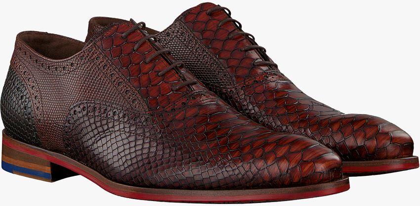 Cognacfarbene FLORIS VAN BOMMEL Business Schuhe 19104 - larger