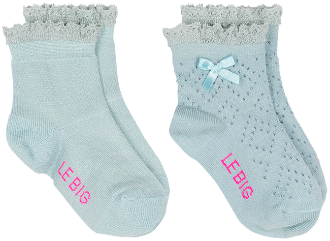 Blaue LE BIG Socken ISOLDE SOCK 2-PACK - large