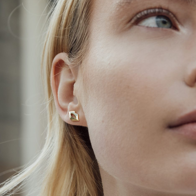 Goldfarbene ALLTHELUCKINTHEWORLD Ohrringe PARADE EARRINGS LIPS - large