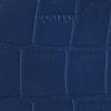 Blaue BY LOULOU Portemonnaie SHINY CROCO - small