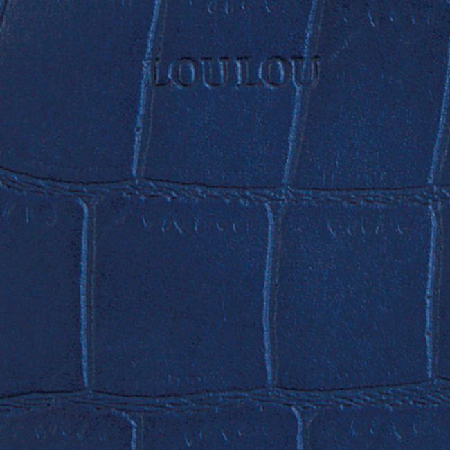 Blaue BY LOULOU Portemonnaie SHINY CROCO - large