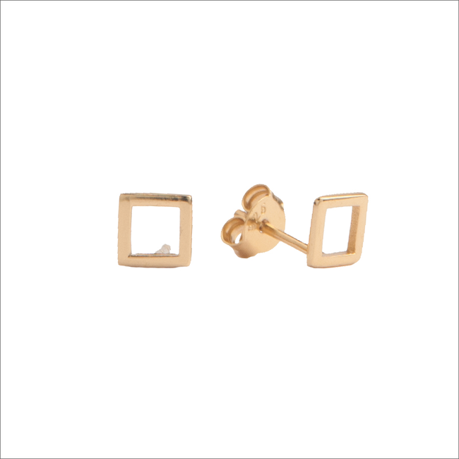 Goldfarbene ALLTHELUCKINTHEWORLD Ohrringe PARADE EARRINGS OPEN SQUARE - large
