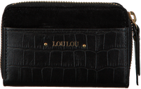 Schwarze LOULOU ESSENTIELS Portemonnaie SLB14XS CLASSY CROC  - medium