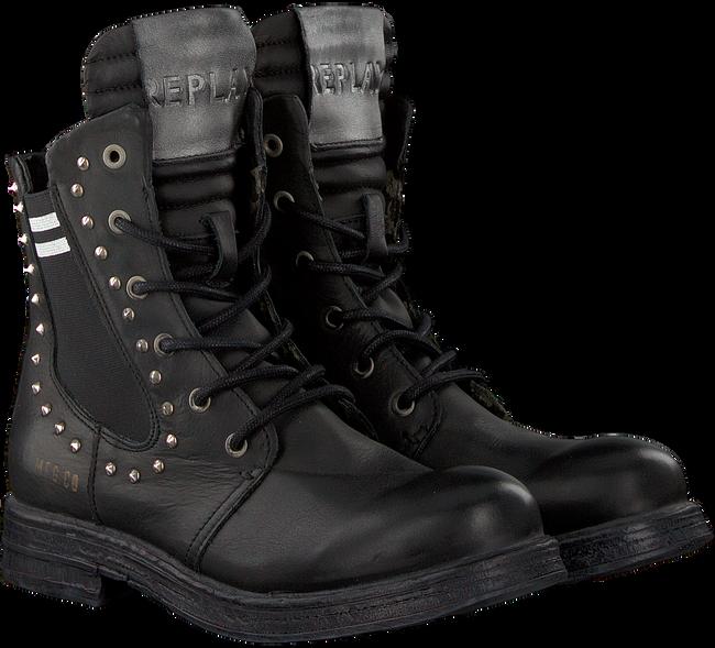 Schwarze REPLAY Biker Boots RL260059L SKIN - large