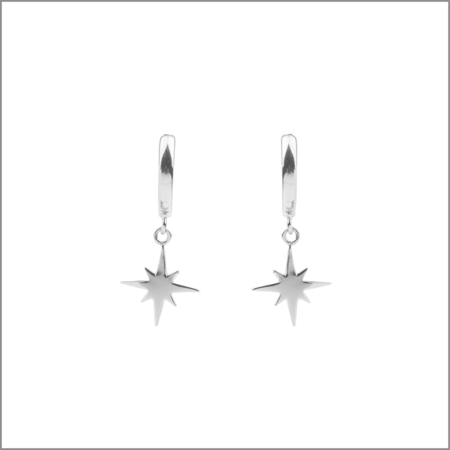 Silberne ALLTHELUCKINTHEWORLD Ohrringe SOUVENIR EARRINGS STAR BURST - large