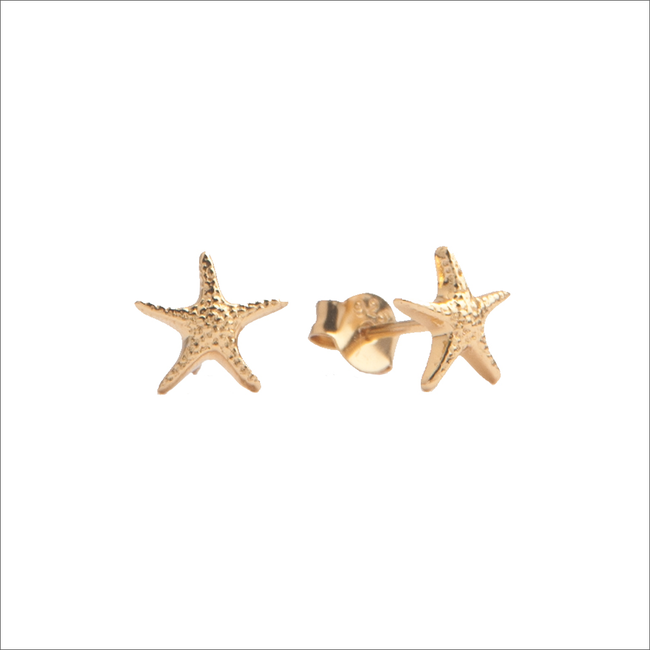 Goldfarbene ALLTHELUCKINTHEWORLD Ohrringe PARADE EARRING STARFISH - large
