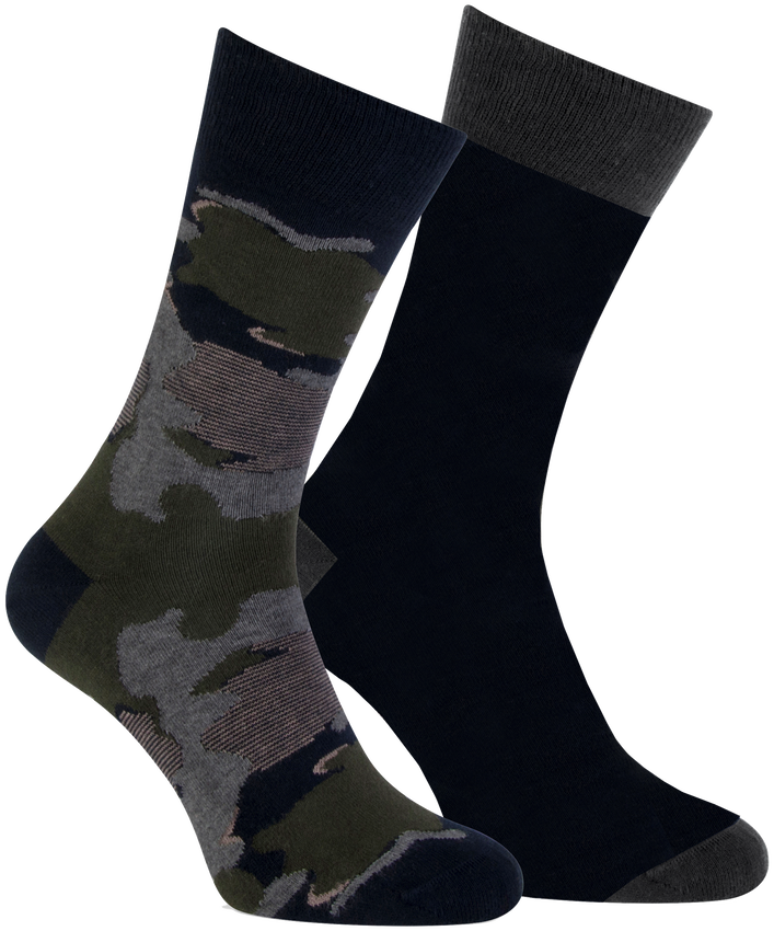 Graue MARCMARCS Socken MM DOMINIC COTTON 2-PACK - larger