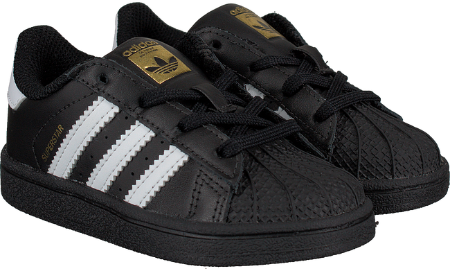 Schwarze ADIDAS Sneaker SUPERSTAR KIDS 1 - large