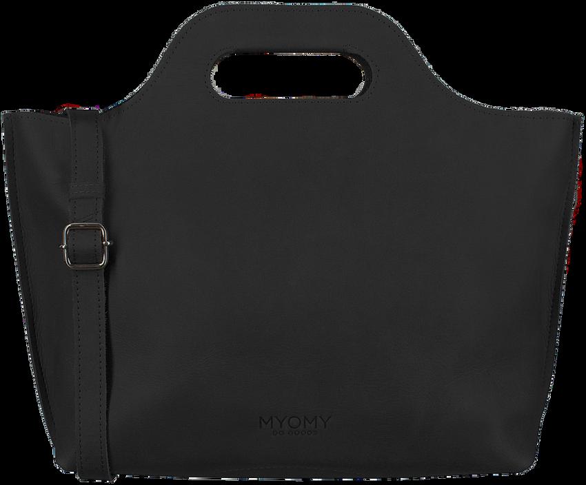 Schwarze MYOMY Handtasche MY CARRY BAG HANDBAG - larger