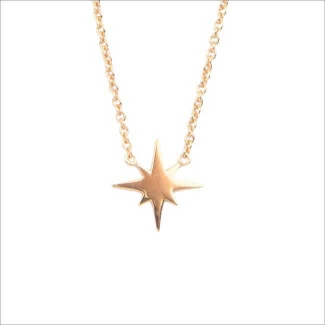 Goldfarbene ALLTHELUCKINTHEWORLD Kette SOUVENIR NECKALCE STAR BURST - large