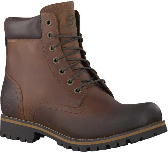 Cognacfarbene TIMBERLAND Ankle Boots RUGGED 6 IN PLAIN TOE WP - large