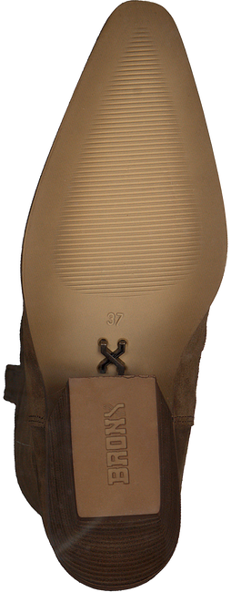 Cognacfarbene BRONX Hohe Stiefel LOW-KOLE 14188  - large