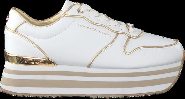 Weiße TOMMY HILFIGER Sneaker low METALLIC FLATFORM  - large