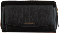 Schwarze LOULOU ESSENTIELS Portemonnaie SLB CLASSY CROC  - medium