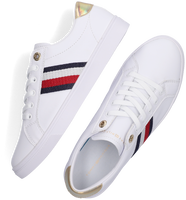 Weiße TOMMY HILFIGER Sneaker low TH CORPORATE CUPSOLE  - medium