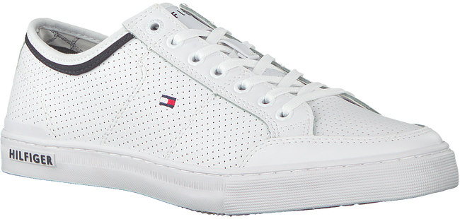 Weiße TOMMY HILFIGER Sneaker CORE CORPORATE LEATHER SNEAKER  - large