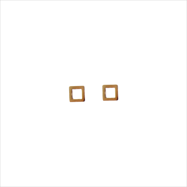 Goldfarbene ALLTHELUCKINTHEWORLD Ohrringe PETITE EARRINGS SQUARE - large
