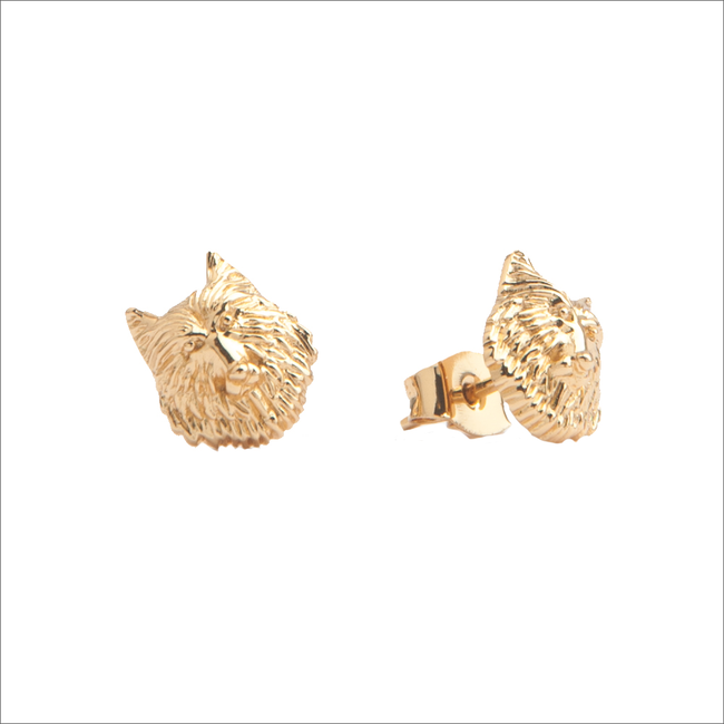 Goldfarbene ALLTHELUCKINTHEWORLD Ohrringe PARADE EARRINGS WOLF - large
