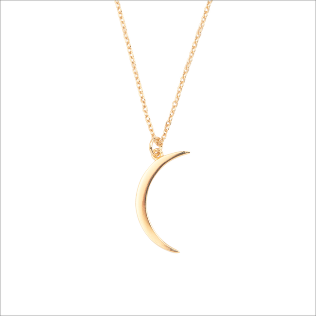 Goldfarbene ALLTHELUCKINTHEWORLD Kette SOUVENIR NECHLACE LONG MOON - large