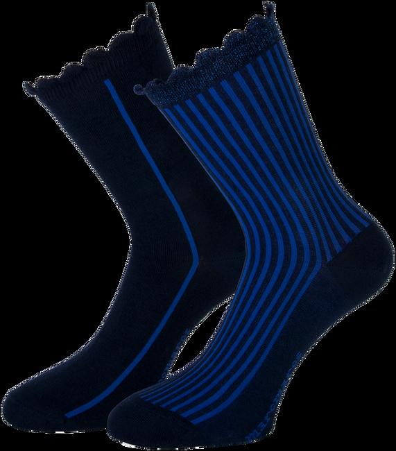 Blaue MARCMARCS Socken AMY COTTON 2-PACK - large